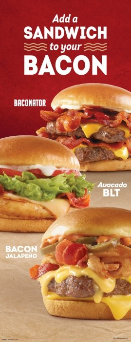 Wendy's Bacon Burger and Sandwiches - Food Photography
