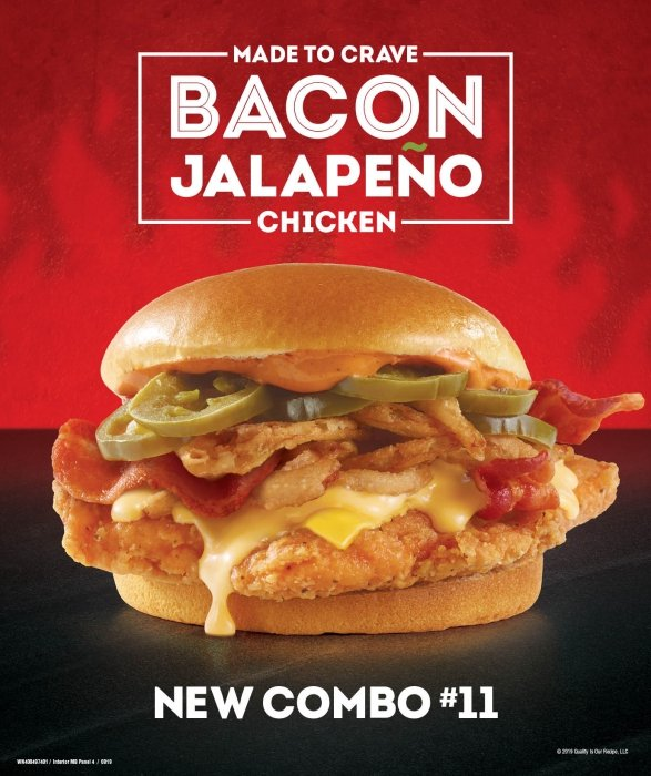 Wendy's Bacon Jalapeno chicken sandwich- Food Photography