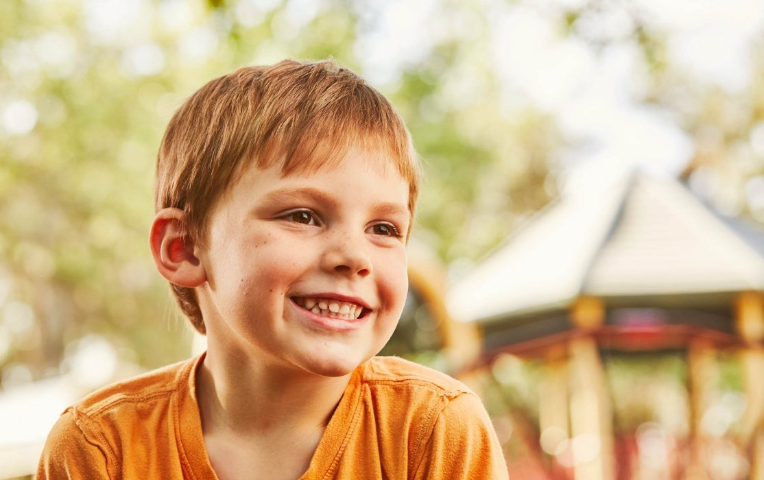 Portrait of a young boy smiling - lifestyle photography
