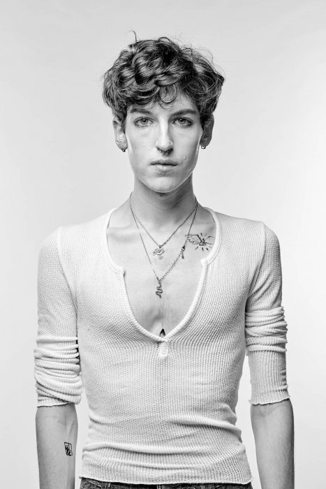 Portrait photography of a young male model