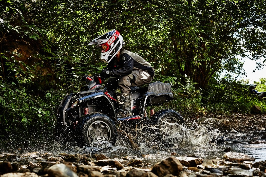 Young boys ridding in atvs - sport photography