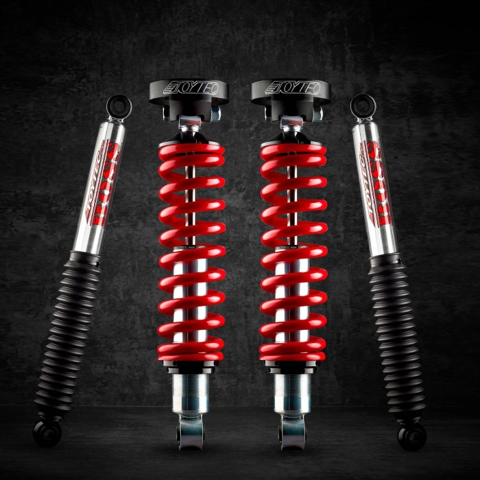 Toytec shocks and parts - product photography