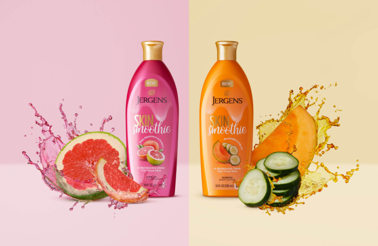 Two Jergens Skin Smoothie - Splash Product Photography