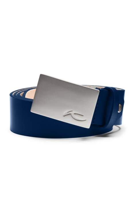 ecommercere - blue kjus belt on white - product photography