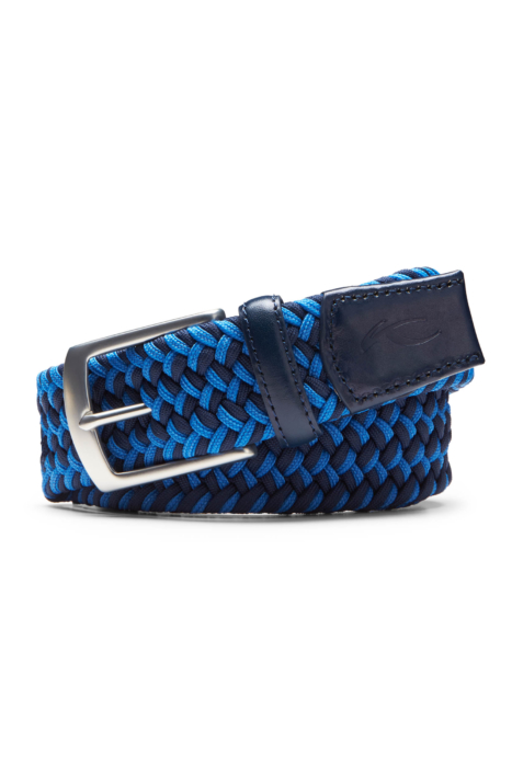 ecommercere - blue woven kjus belt on white - product photography