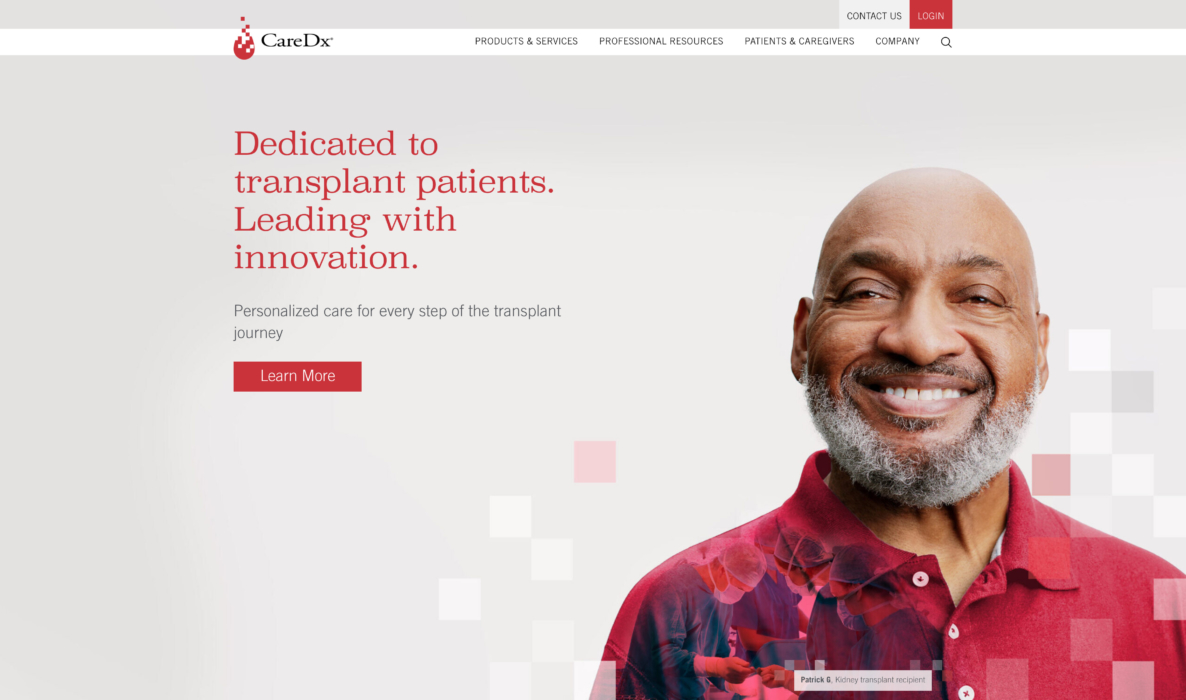 Portrait of a patient in layout for healthcare website - healthcare photography