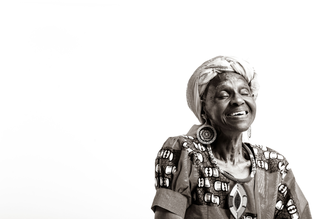 portrait of an elderly woman wearing African clothing - Dayton Portrait Photographer